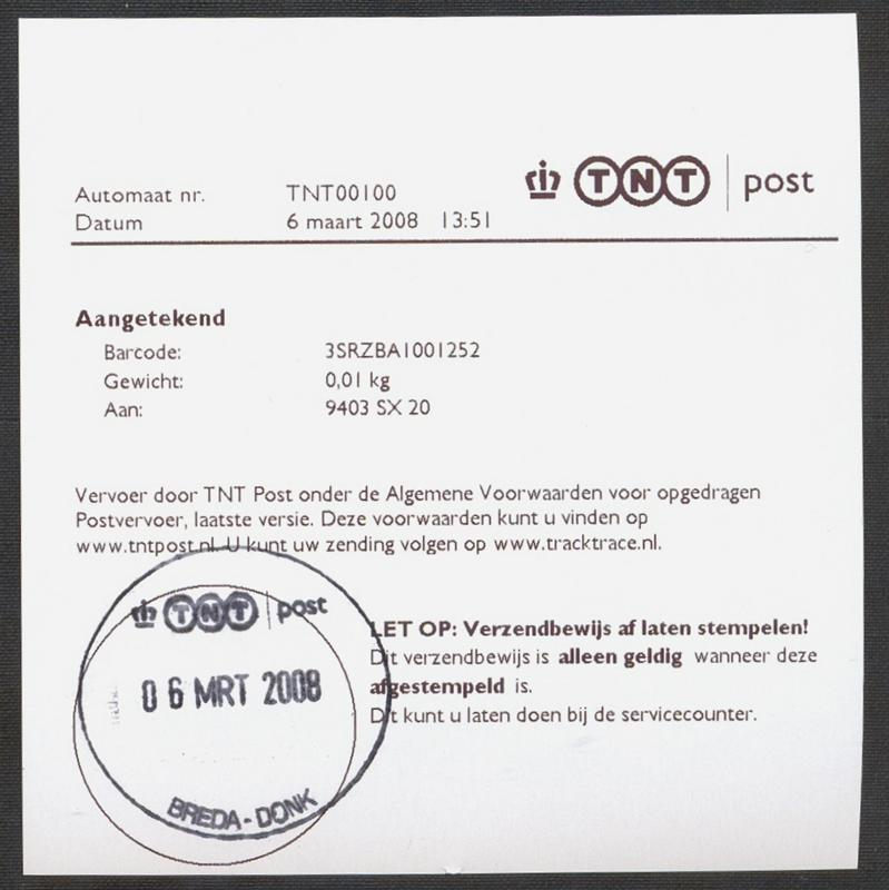 60. Remboursformu-lier 61. Verzendbewijs voor Internationaal Pakket ...: www.dekapervanaalst.nl/aCon_1.htm